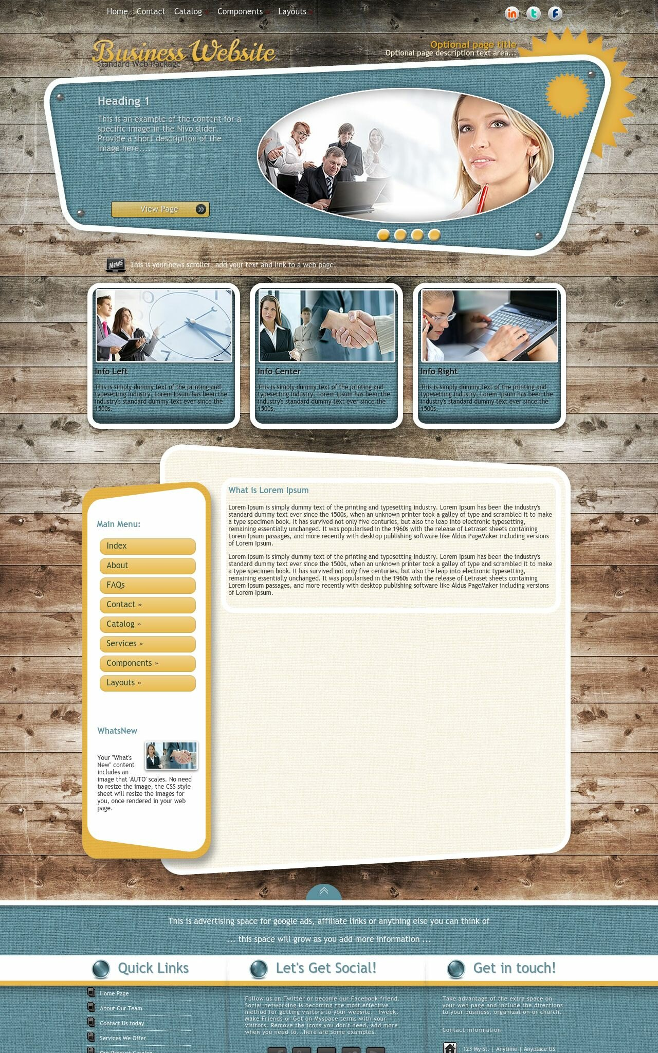Tablet: Business Dreamweaver Template