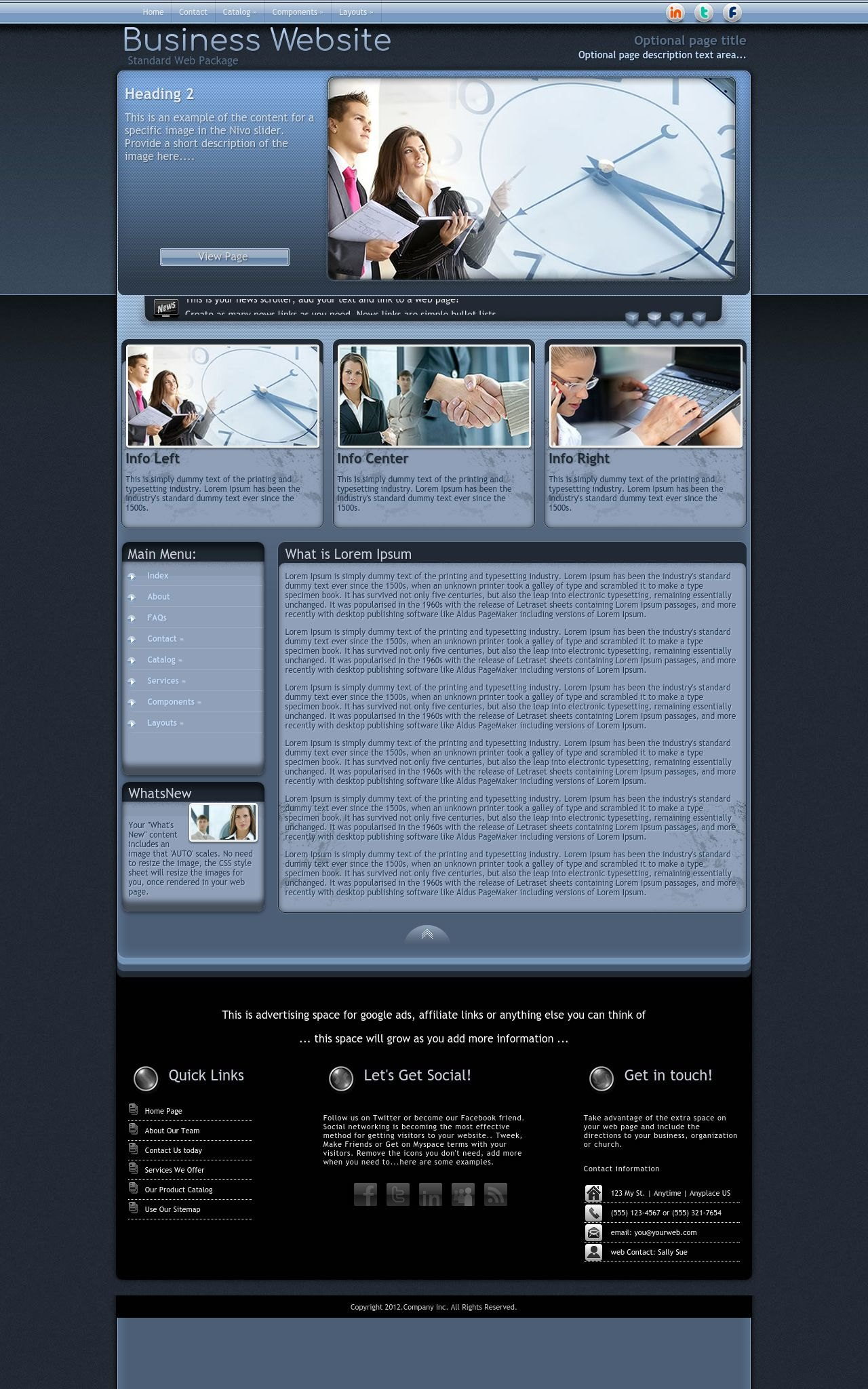Desktop: Business Wordpress Theme