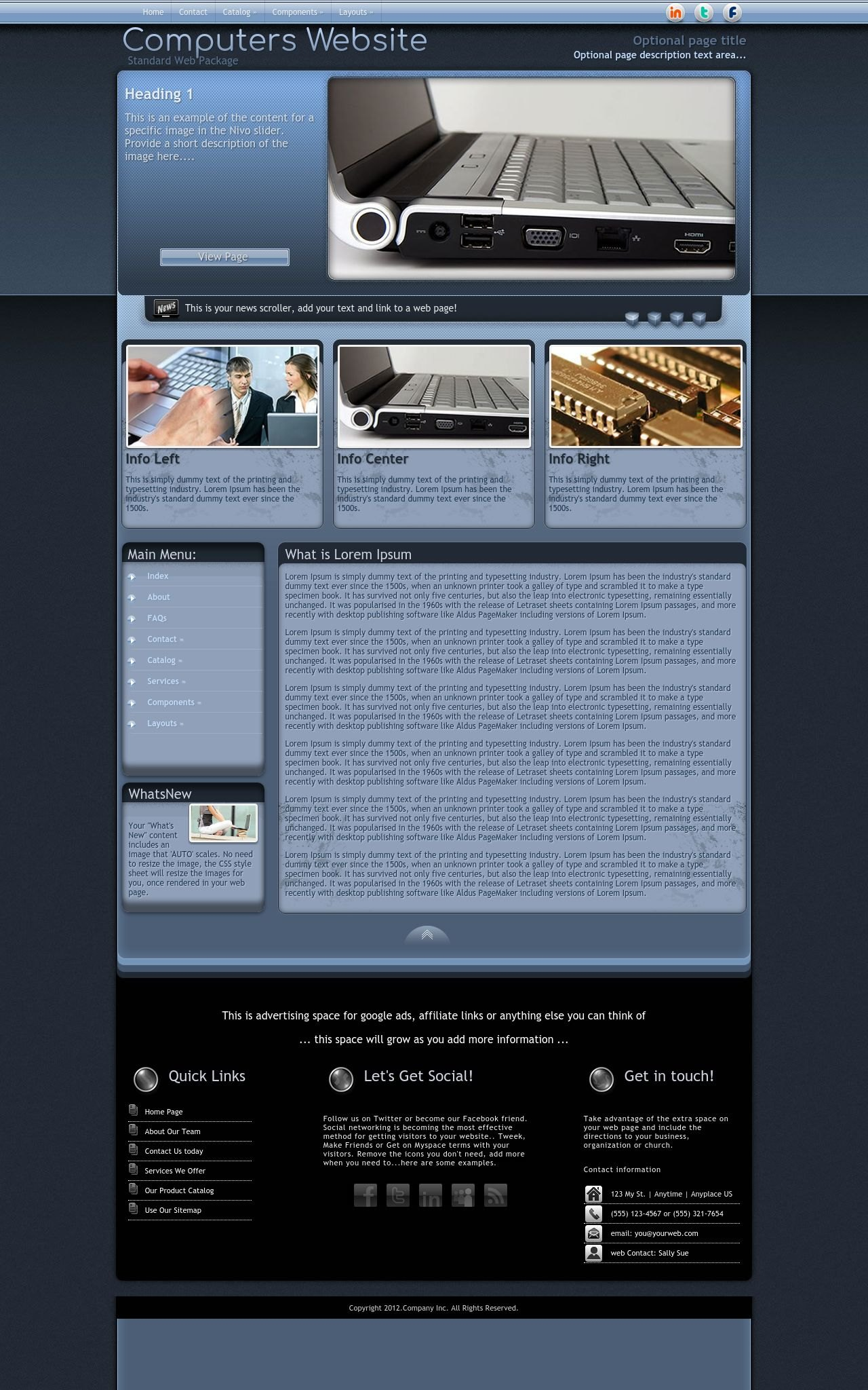 Desktop: Computers Wordpress Theme