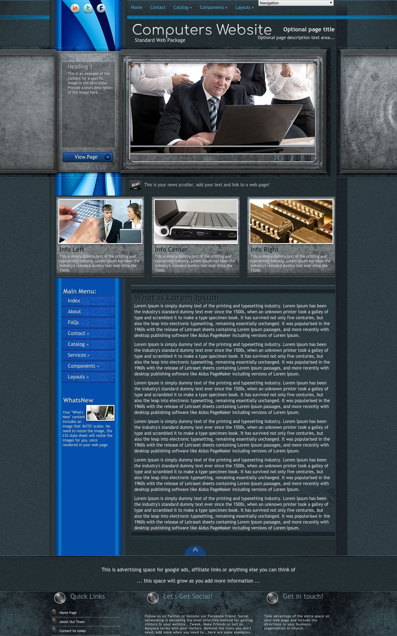 Tablet: Computers Dreamweaver Template