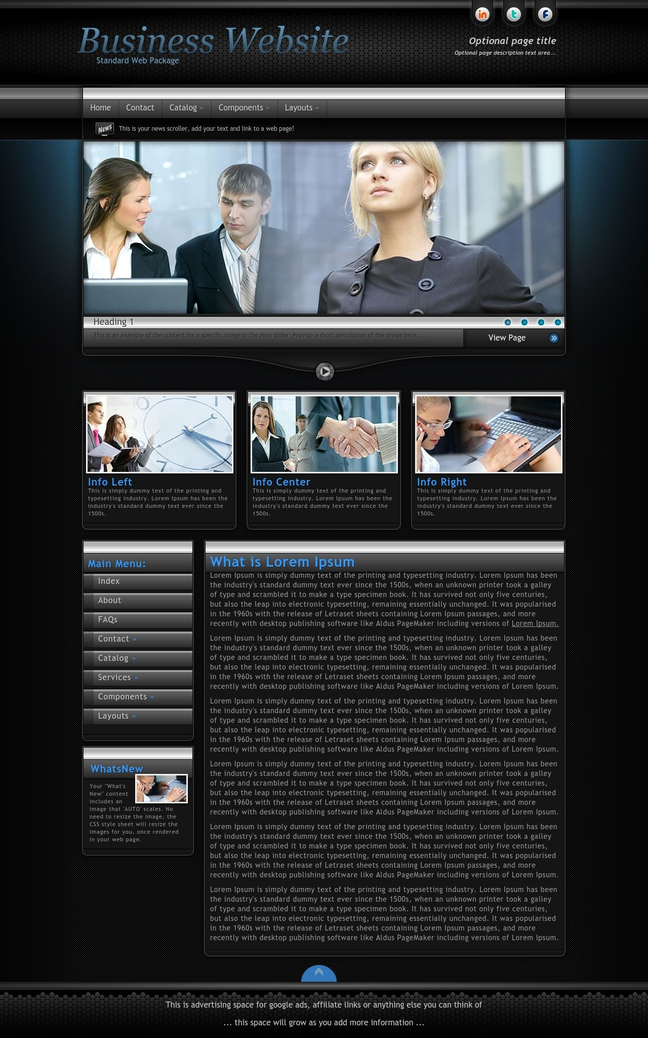 Desktop: Business Sharepoint Designer Template