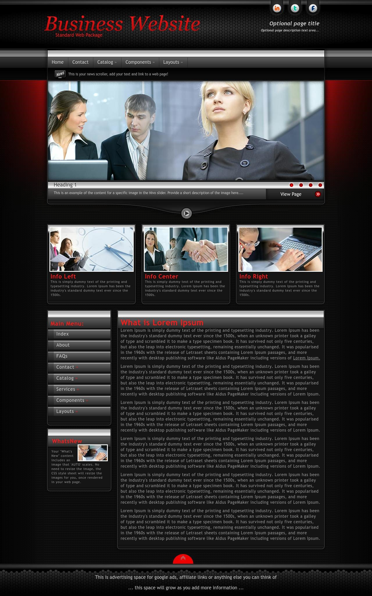 Tablet: Business Sharepoint Designer Template