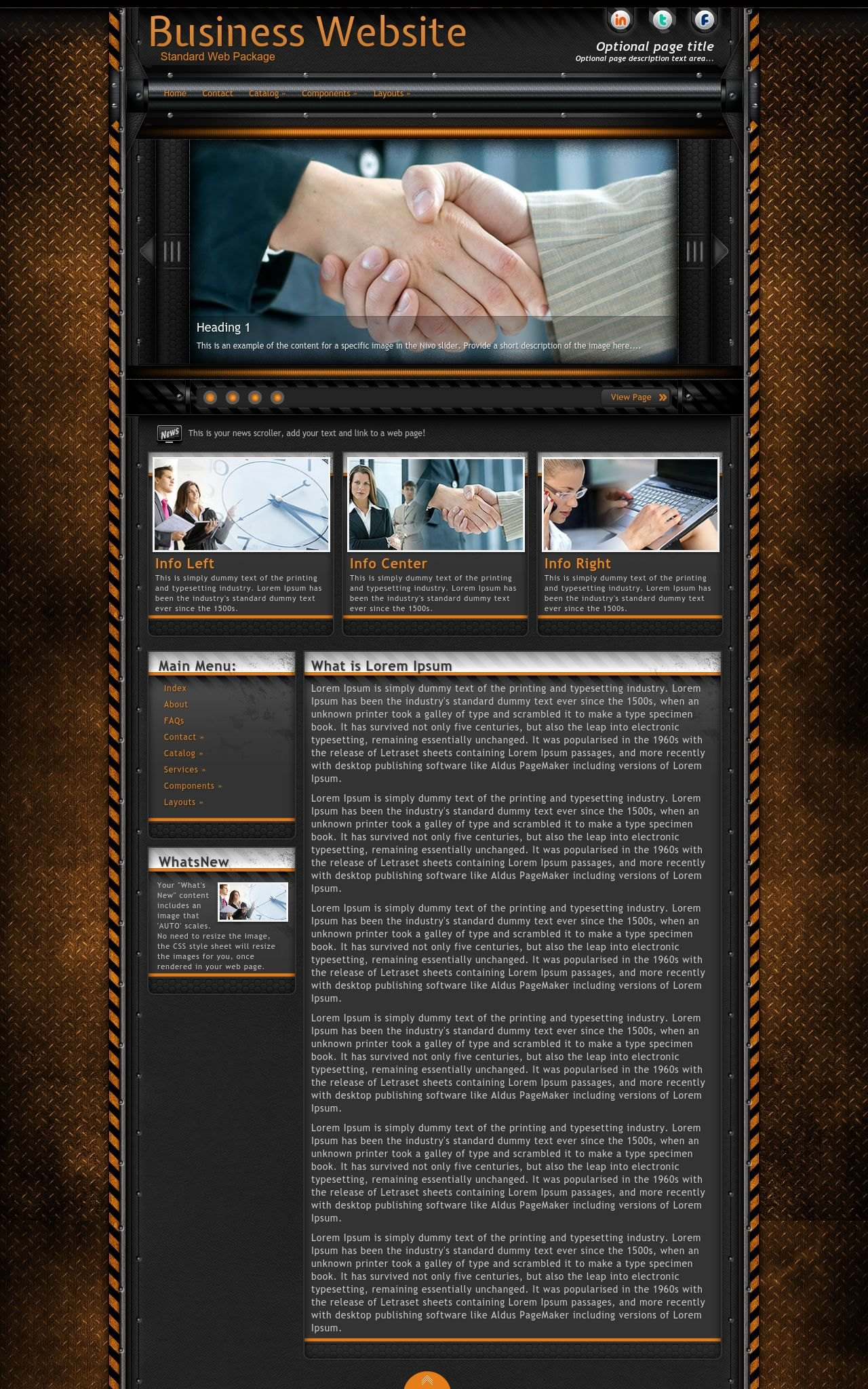 Desktop: Business Dreamweaver Template
