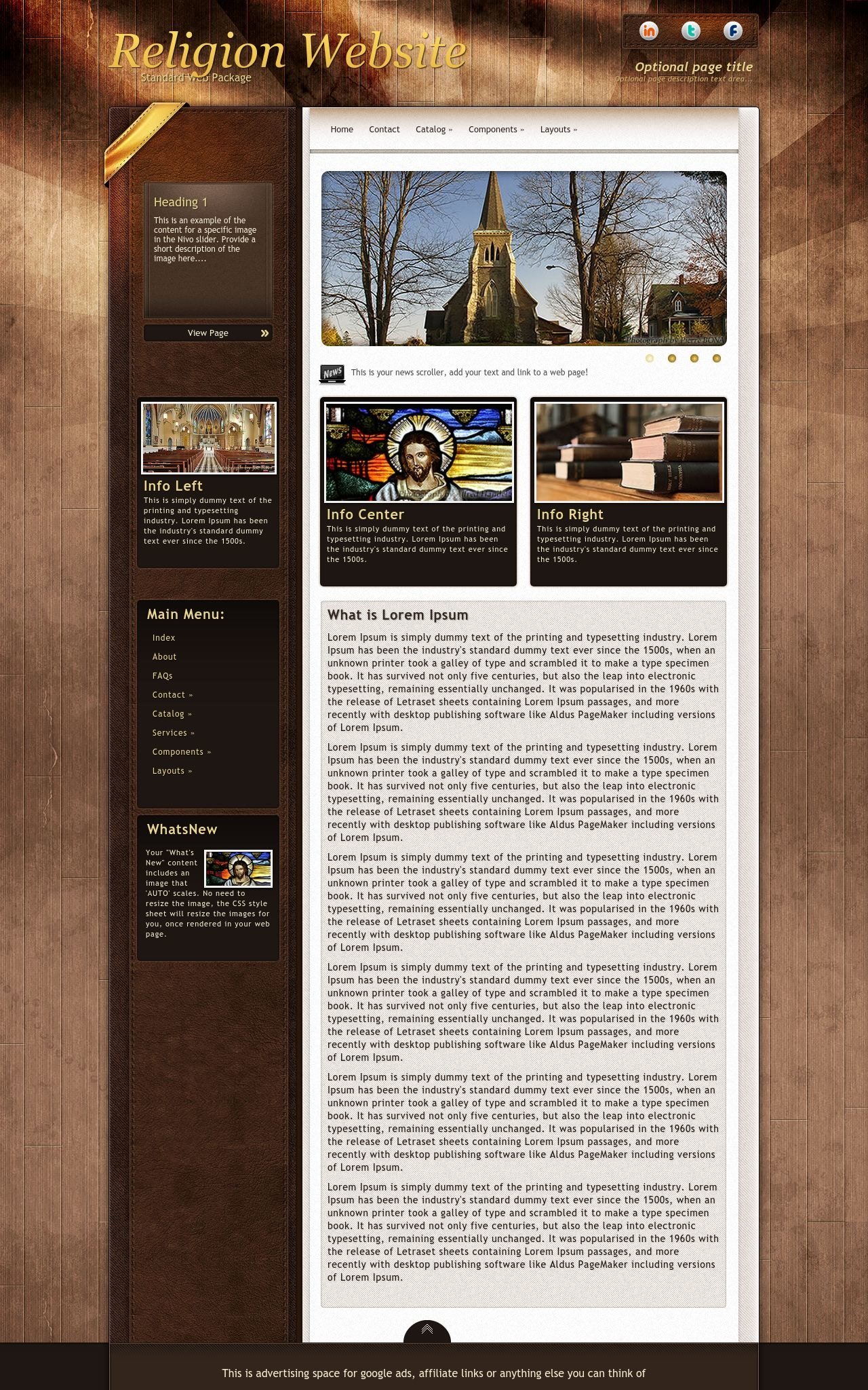 Desktop: Religion Dreamweaver Template