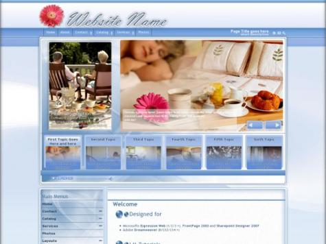 Bed-breakfast Dreamweaver Templates