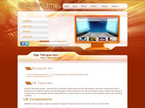 Computers Dreamweaver Templates