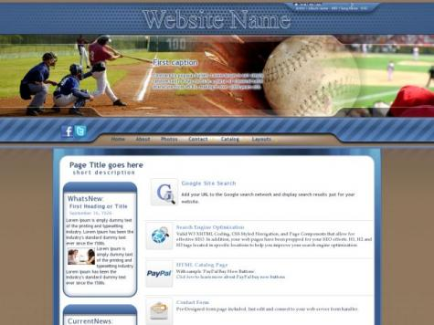 Baseball Sharepoint Designer Templates