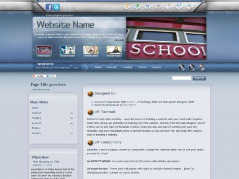 Education Frontpage Templates