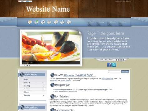 Restaurant Dreamweaver Templates