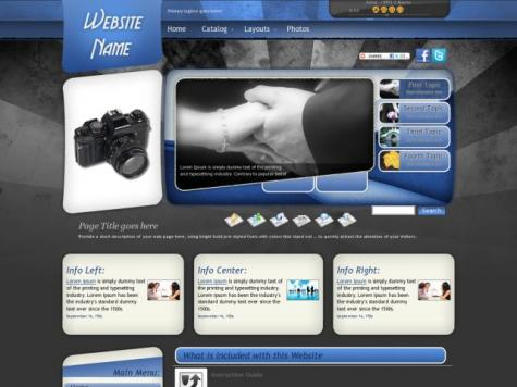 Photography Frontpage Templates