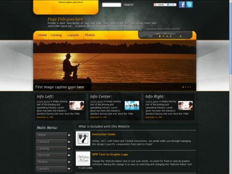 Fishing Frontpage Templates