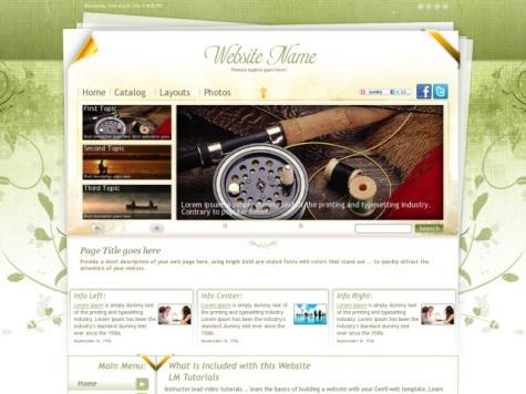 Fishing Dreamweaver Templates