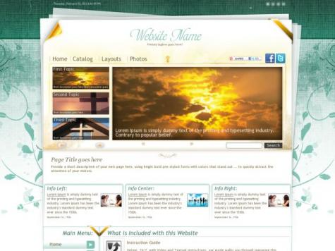 Religion Dreamweaver Templates