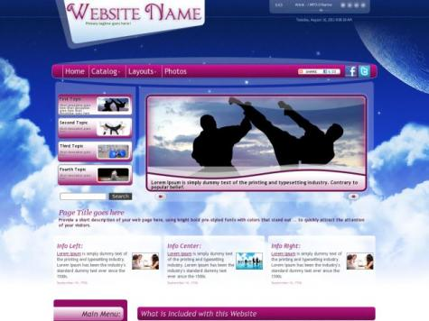 Martial-arts Web Templates