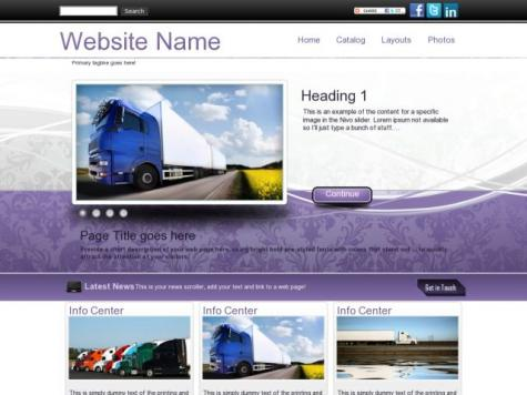 Trucking Dreamweaver Templates