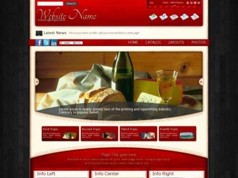 Winery Frontpage Templates