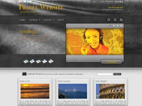 Travel Dreamweaver Templates