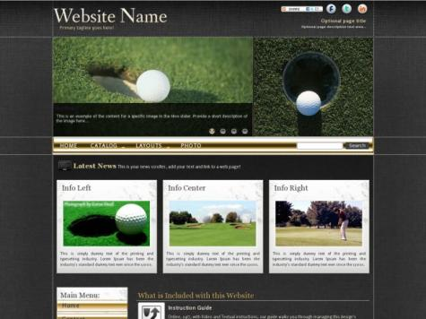 Golf Dreamweaver Templates