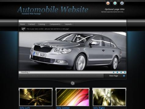 Automobile Frontpage Templates