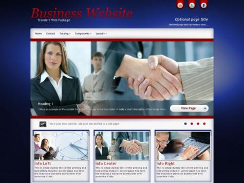 Business Frontpage Templates