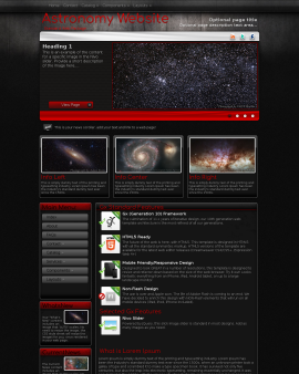 Foundation Astronomy Website Template