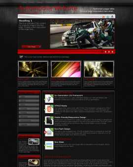 Foundation Automobile Website Template