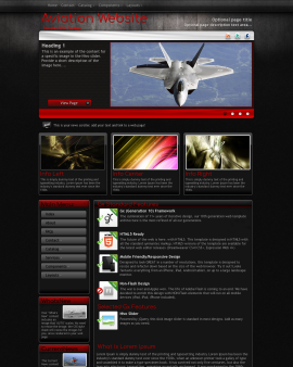 Foundation Aviation Website Template