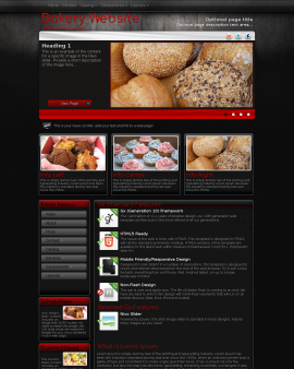 Foundation Bakery Website Template