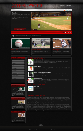 Foundation Baseball Website Template