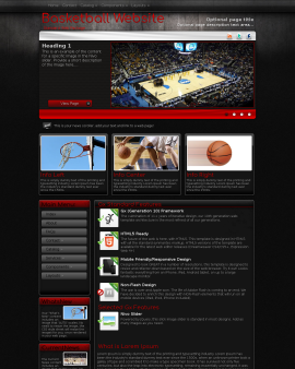 Foundation Basketball Website Template