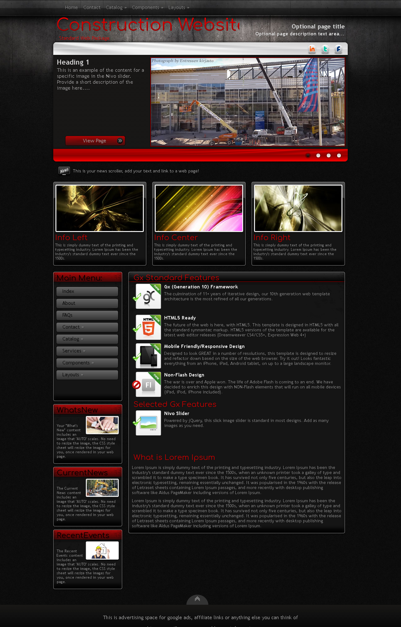 Tablet: Construction Wordpress Theme
