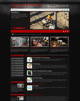 Foundation Electrical Website Template