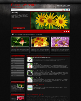 Foundation Floral Website Template
