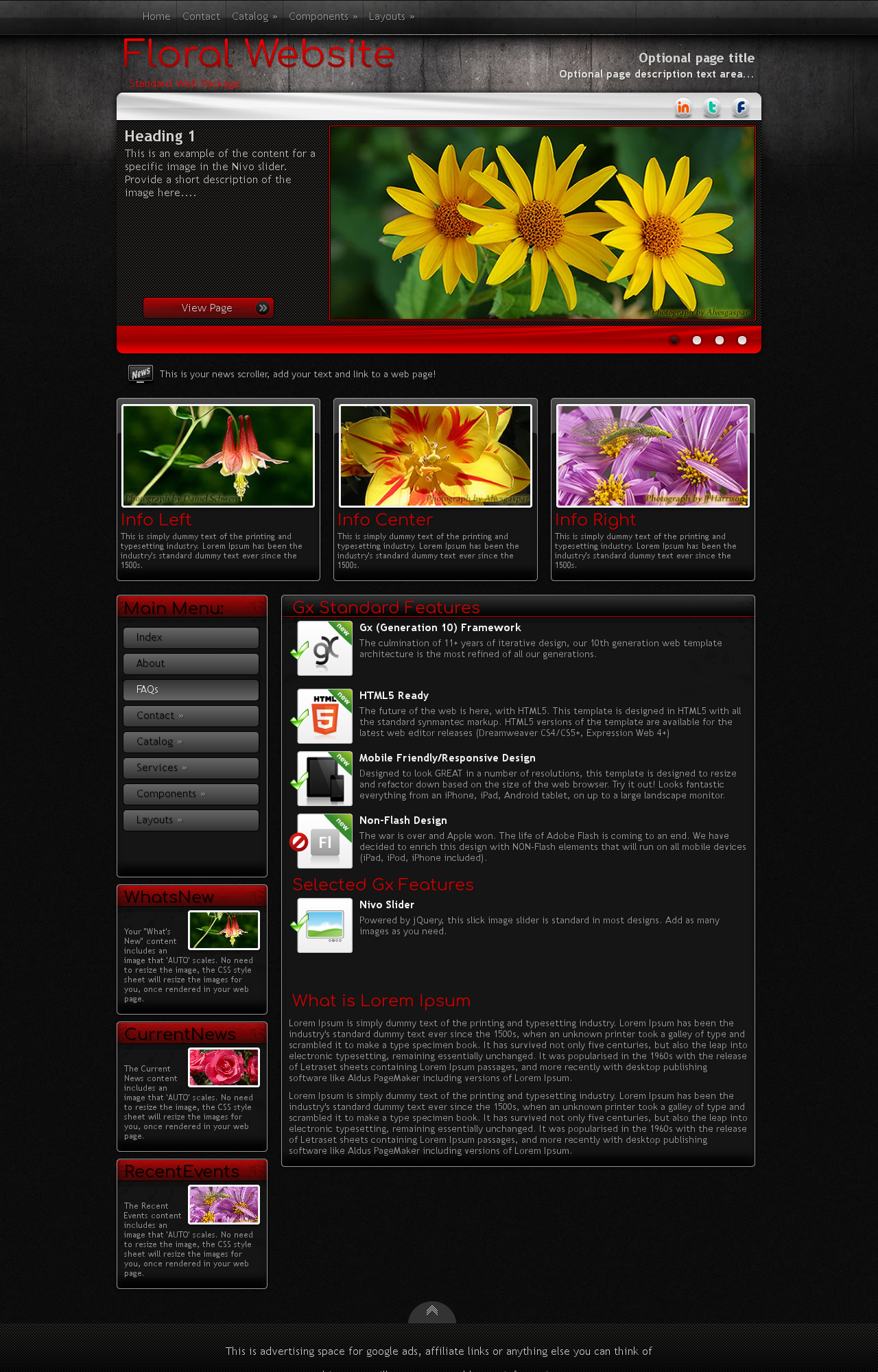 Floral Wordpress Themes