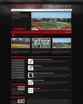Foundation Football Website Template