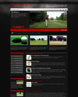 Foundation Golf Website Template