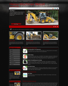 Foundation Heavy-machines Website Template