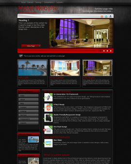 Foundation Hotel Website Template