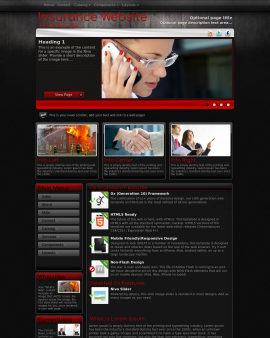 Foundation Insurance Website Template