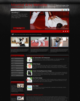 Foundation Martial-arts Website Template