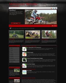 Foundation Motocross Website Template