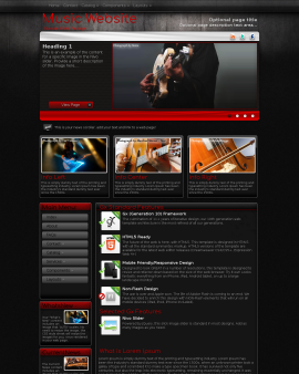 Foundation Music Website Template
