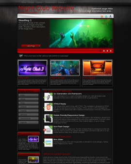 Foundation Night-club Website Template