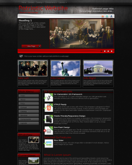Foundation Patriotic Website Template