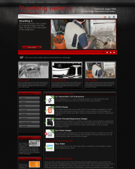 Foundation Plumbing Website Template