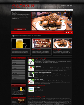 Foundation Pub Website Template