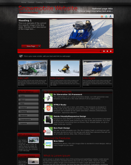 Foundation Snowmobile Website Template