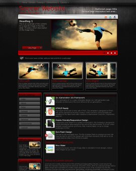 Foundation Soccer Website Template