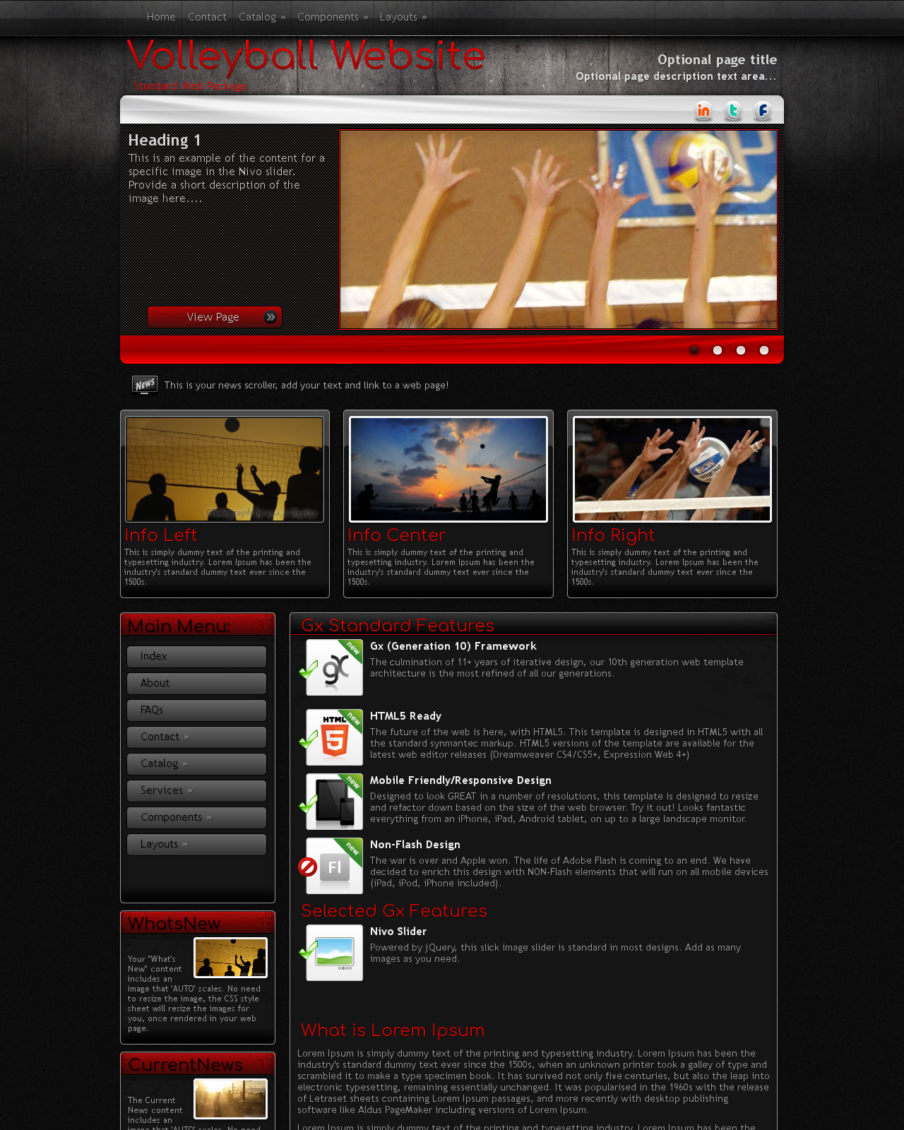 Volleyball Wordpress Themes