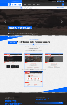NewMetro Automobile Website Template
